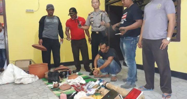 Jajaran Polsek Seputih Surabaya Berhasil Mengaman Oknum Dukun