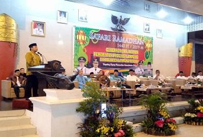 Dalam Safari Ramadhan Gubernur M. Rido Focardo Diskusi Pembangunan Didaerah