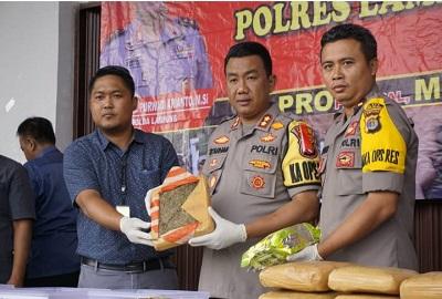 Satres Narkoba Lampung Selatan Berhasil Mengagalkan Penyelundup Narkoba Jenis Shabu Dan Ganja