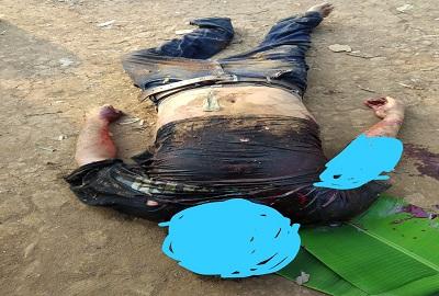 Seorang Pria Tewas Bersimbah Darah Tergeletak Ditanah