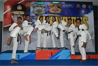 Polda Lampung Meraih Satu Perak Dan Satu Perunggu Dalam Kejuaraan Taekwondo Kapolri Cup II 2019