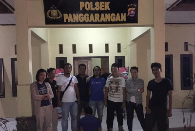 Dibackup Tekab 308 UPPA Satreskrim Polres Tanggamus Tangkap Pencabul Anak Tiri di Banten