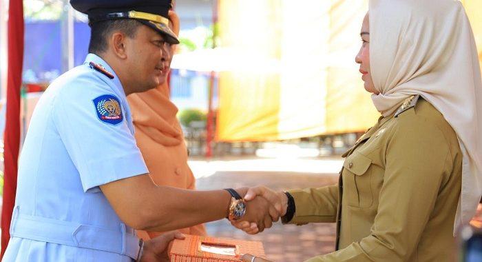 Pisah Sambut Kalapas Kelas II B Menggala Dihadiri Bupati Winarti SE.MH.