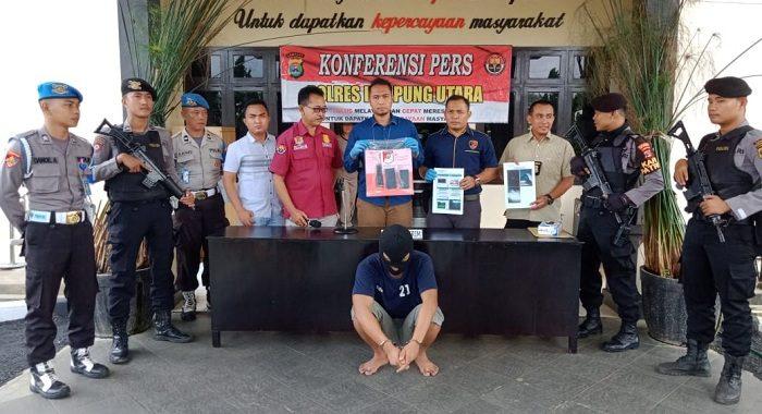 Seorang Supir Truk Diamankan Sat Reskrim Polres Lampung Utara Karena Memeras IRT