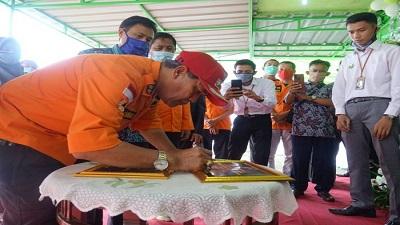Kantor Kas PT BPRS Rajasa Kecamatan Punggur dan Bandar Mataram Diresmikan Bupati Loekman
