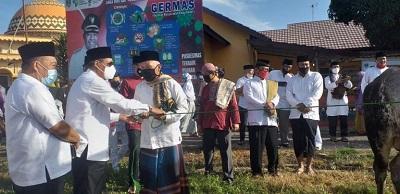 Bupati Lampung Tengah Solat Idul Adha bersama Warga Simpang Agung