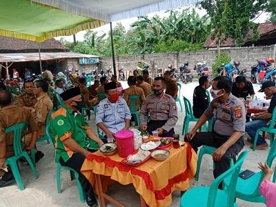 Masyarakat Kecamatan Kota Gajah Sambut Silaturahmi Dari Kamtibmas Kapolsek Punggur Bersama Forkopimcam