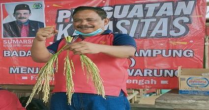 Guna meningkatkan Perekonomian kampung, Ketua DPRD Lampung Tengah (Lamteng) Sumarsono Terus Mendorong Badan Usaha Milik Kampung (BUMK)