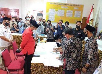 Lukman-Ilyas Resmi Mendaftar Bakal Calon Bupati dan Wakil Bupati di Pilkada Lamteng 2020