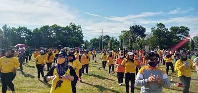 Musa – Dito Adakan Senam Senam Berjaya di Kecamatan Seputih Mataram