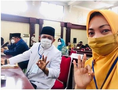 Paslon Bupati Lampung Tengah Nessy Calvia Dan Imam Suhadi Siap Laksanakan Pakta Integritas