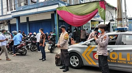 Untuk Memutus Matarantai Penyebaran Virus Corona Covid -19 Kapolres Tanggamus AKBP Oni Prasetya, SIK Pimpin Operasi Yustisi