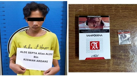Pemuda Memiliki Shabu – Shabu Ditangkap Ditaman Tugu pengantin Oleh Satres Narkoba Lampung Tengah