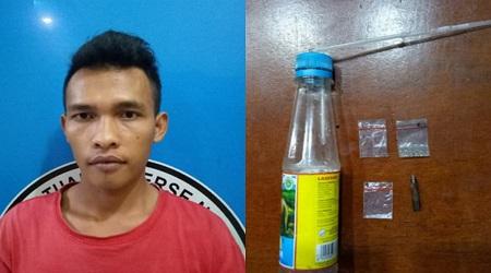 Satuan Reserse Narkoba Mencurigai Dua Orang mencurigakan Dipinggir Jalan Saat Digeledah Memiliki Sabu