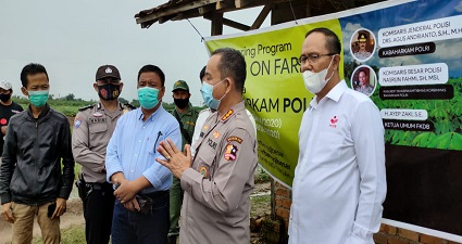 Giat Monitoring FKDB (Forum Komunikasi Do'a Bangsa) On Farm Dari Mabes Polri Di Dusun 7 Kampung Terbanggi Besar Lampung Tengah