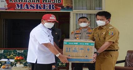 Pemerintah Propinsi Lampung Menyerahkan Vaksin Pertama Untuk Pemkab Lamteng