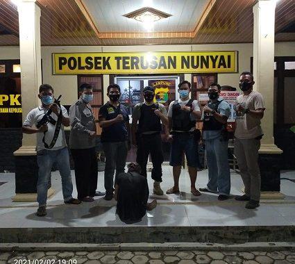 Kurang Lebih 9 Bulan Menjadi DPO Kasus Curas Pelaku Ditangkap ditempat Persembunyiannya oleh Polsek Terusan Nunyai Lampung Tengah