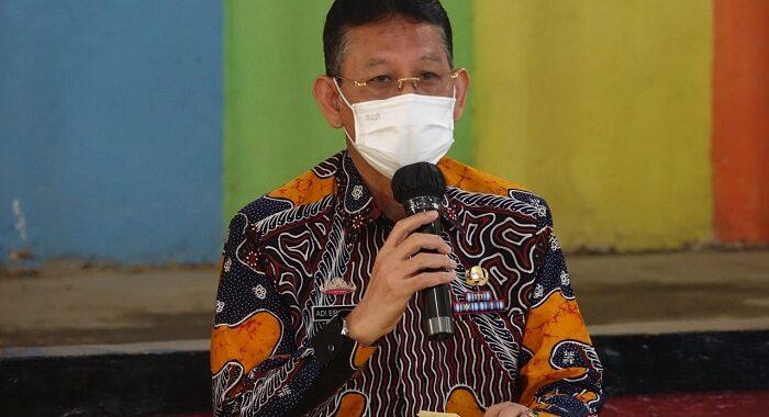 Bupati Lampung Tengah Musa Ahmad S, Sos Bersama Sekretaris Daerah Nirlan, S.H, M.M. Menyambut Kedatangan Tim Monitoring Divisi IV (PPKM)