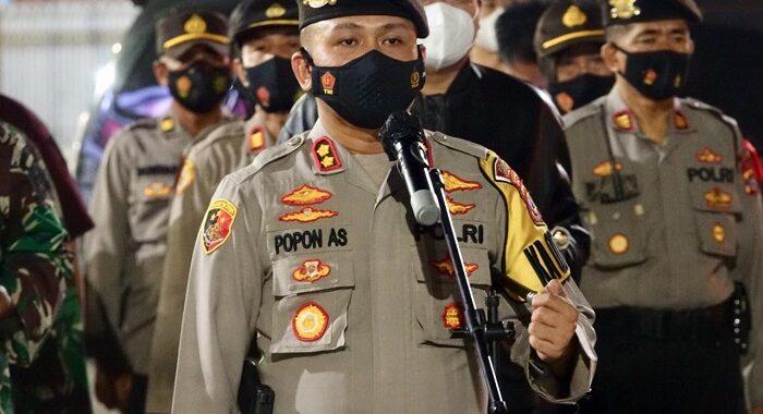 Kapolres Lampung Tengah Bersama Bupati dan Dandim 0411 Lampung Tengah Melaksanakan Patroli Malam Takbiran Berskala Besar