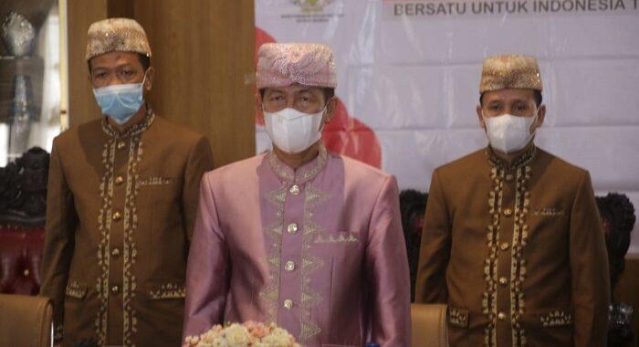 Bupati Lampung Utara Hi. Budi Utomo, S.E., M.M., Mengikuti Upacara Peringatan Hari Lahir Pancasila Tahun 2021 Yang Diselenggarakan (BPIP) Secara Virtual