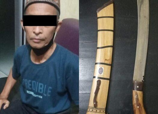Tidak Tau Permasalahannya Korban Langsung DI Pukul, Pelaku Ditangkap Anggota Polsek Trimurjo Lampung Tengah.