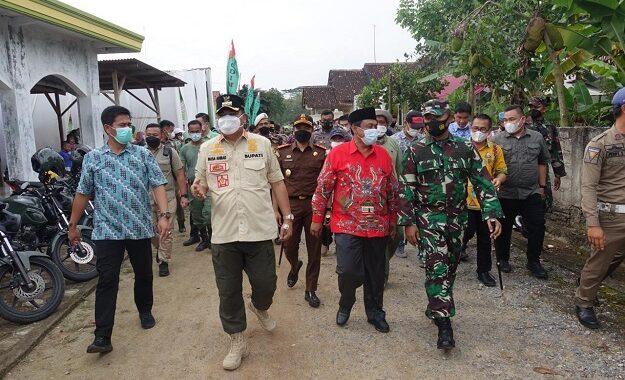 Bupati Lampung Tengah Musa Ahmad Hadiri Acara Pembukaan Karya Bhakti TNI Kodim 0411/LT TA 2021