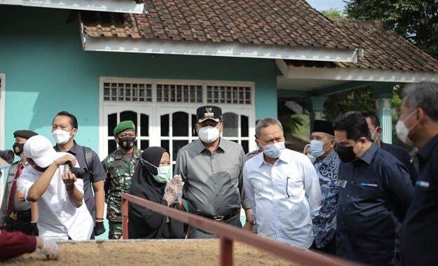 Menteri BUMN Erick Tohir hadir Di Lampung Tengah Mengunjungi Produksi Tiwul