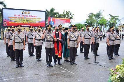 Sertijab Kapolres Lampung Tengah, Dipimpin Kapolda Lampung.