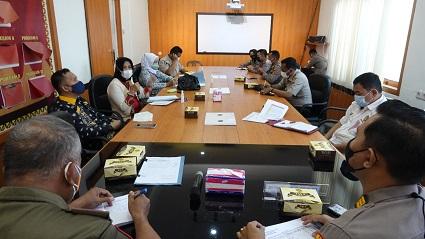 Rakor Dalam Rangka 2 Juta Vaksinasi Serentak Menjelang Hut Kemerdekaan Ri Ke 76 Di Rupatama Polres Lampung Tengah