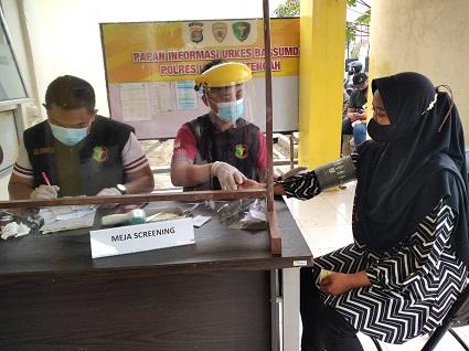 Hari Ini Buka Gerai Vaksin Ke Dua Di Poliklinik Polres Lampung Tengah.