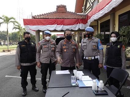 Propam Polda Lampung Lakukan Gaktiplin Di Polres Lampung Tengah
