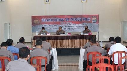 Kapolres Lampung Tengah AKBP Oni Prasetya, S.IK Menerima Tim Was Ops Aman Nusa II Dari Itwasum Polri